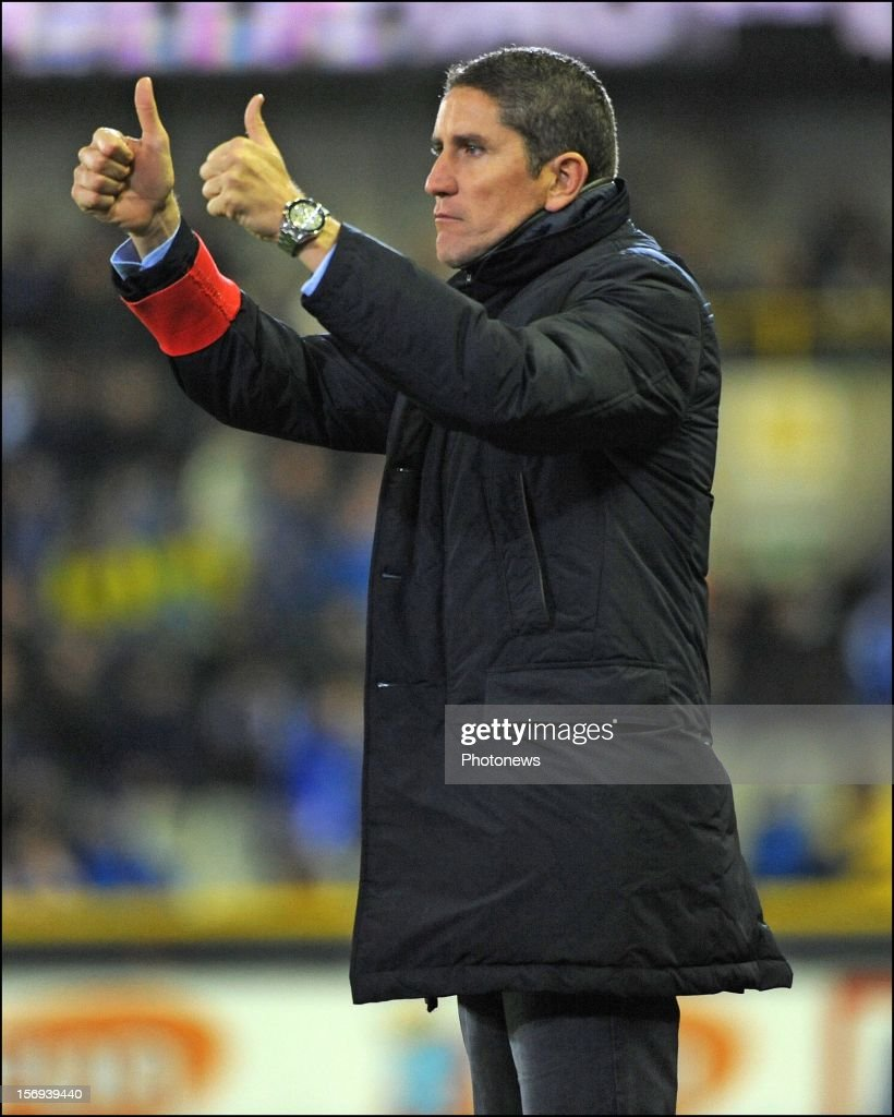 Head coach Juan Carlos Garrido of Club Brugge KV pictured during the Jupiler League match between Club Brugge K.V and R.C.S.Charleroi November 25, 2012 in Brugge, Belgium.