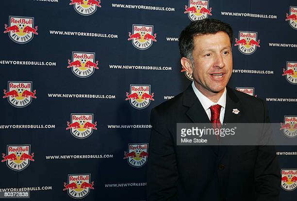 Head Coach Juan Carlos Osorio of the New York Red Bulls talks to the media during Media Day at the New York Red Bulls Space March 25 2008 in New York...