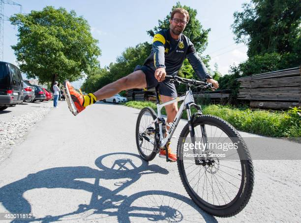 Head coach Juergen Klopp during a training session on July 31 2014 in Bad Ragaz Switzerland