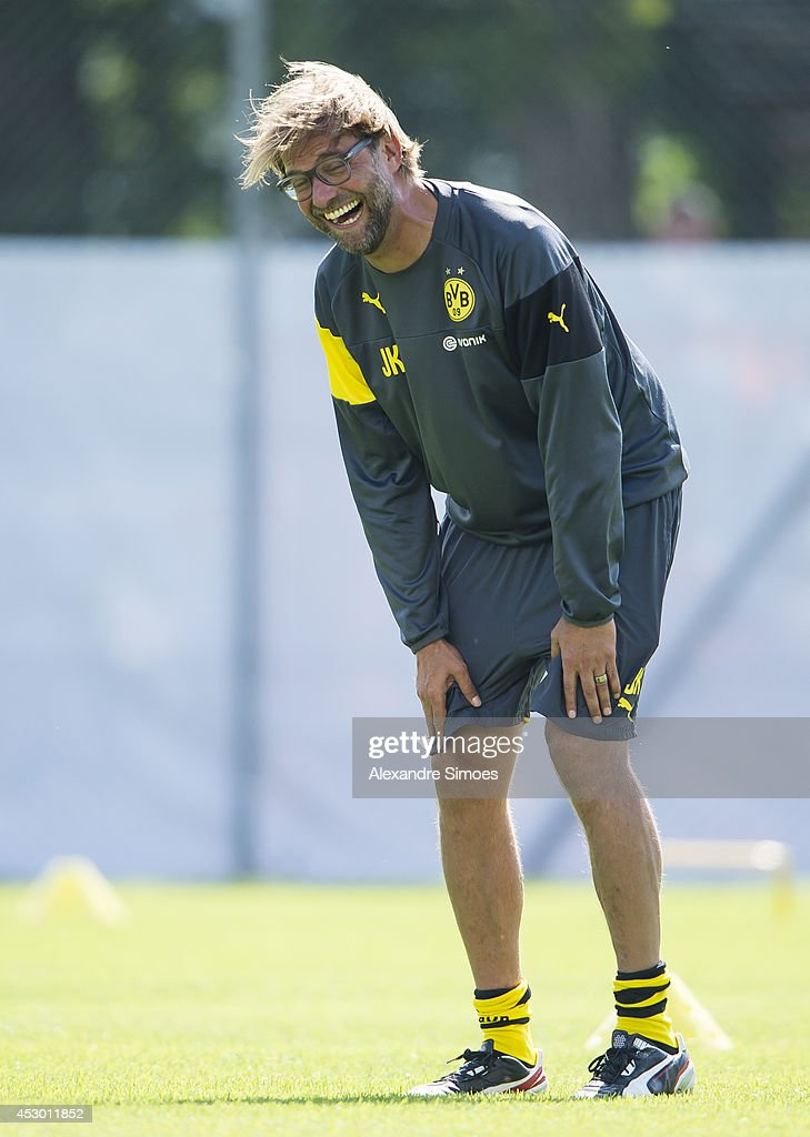Head coach Juergen Klopp (BVB) of Borussia Dortmund during a training session in the Borussia Dortmund training camp on July 31, 2014 in Bad Ragaz, Switzerland.