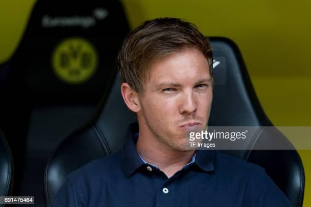 Head coach Julian Nagelsmann of Hoffenheim looks on during the Bundesliga match between Borussia Dortmund and TSG 1899 Hoffenheim at Signal Iduna...