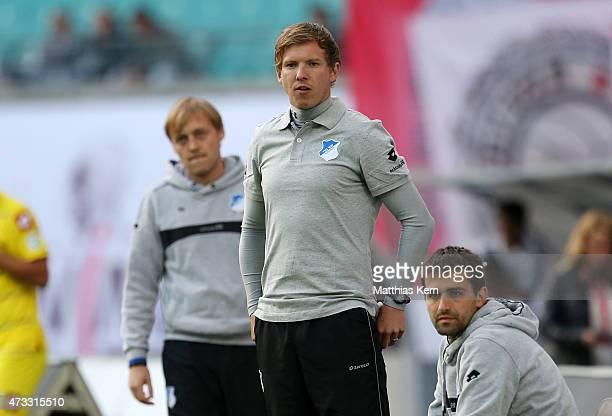Head coach Julian Nagelsmann of Hoffenheim looks on during the U19 A Juniors Bundesliga semi final match between RB Leipzig and TSG 1899 Hoffenheim...