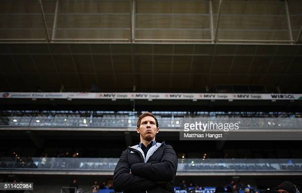 Head coach Julian Nagelsmann of Hoffenheim seen prior to the Bundesliga match between 1899 Hoffenheim and 1 FSV Mainz 05 at Wirsol RheinNeckarArena...