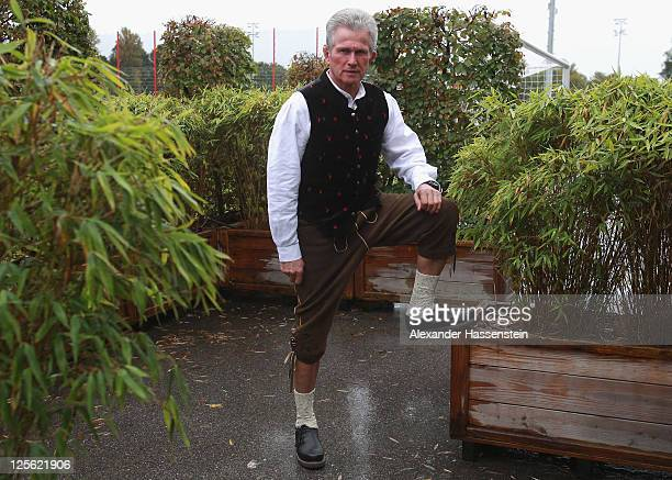 Head coach Jupp Heynckes of FC Bayern Muenchen poses after the Paulaner photocall at Bayern Muenchen`s trainings ground Saebener Strasse on September...