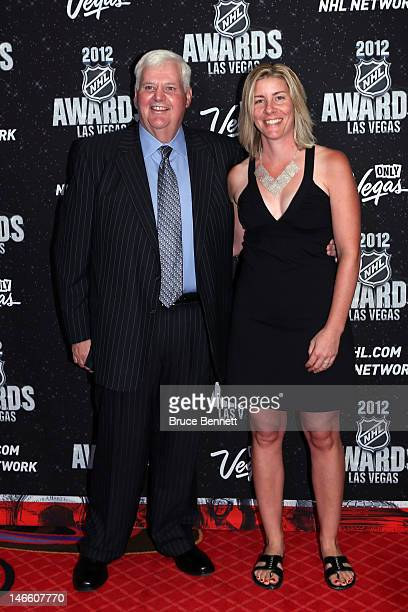 Head coach Ken Hitchcock of the St Louis Blues arrives with guest before the 2012 NHL Awards at the Encore Theater at the Wynn Las Vegas on June 20...