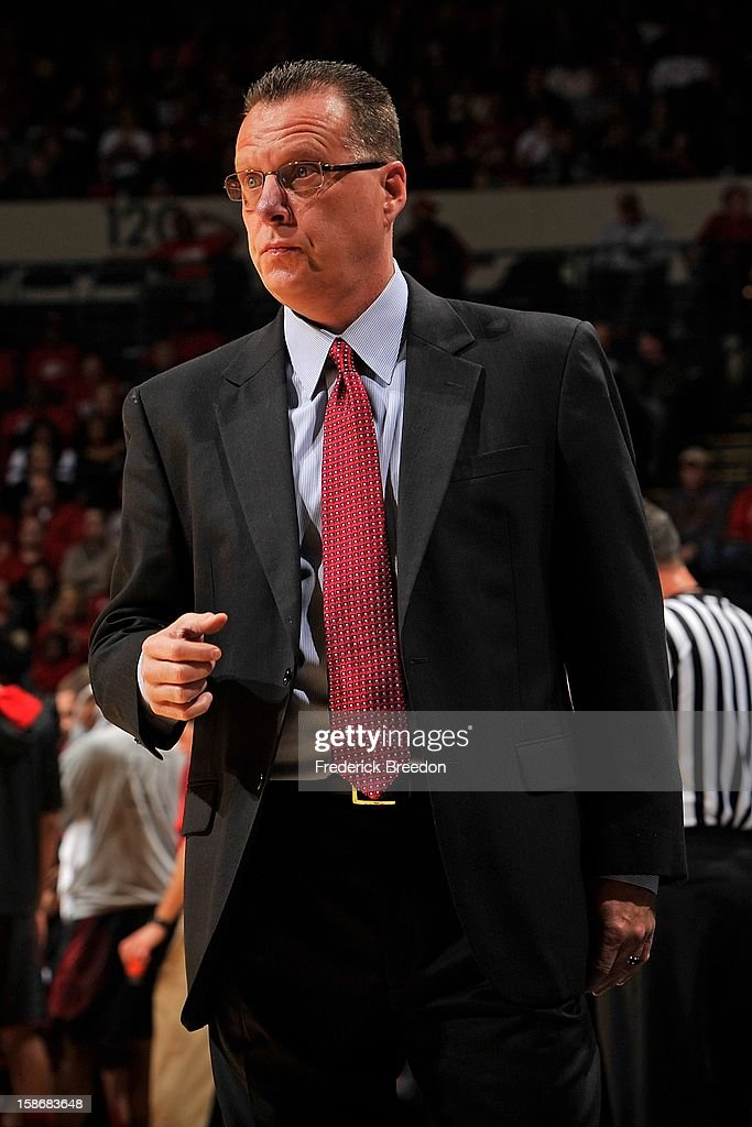 Head coach Ken McDonald of the Western Kentucky Hilltoppers coaches his team against the Louisville Cardinals at Bridgestone Arena on December 22, 2012 in Nashville, Tennessee.
