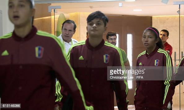 Head Coach Kenneth Zseremeta of Venezuela watches his players leave the dressing room during the FIFA U17 Women's World Cup Jordan 2016 Semi Final...