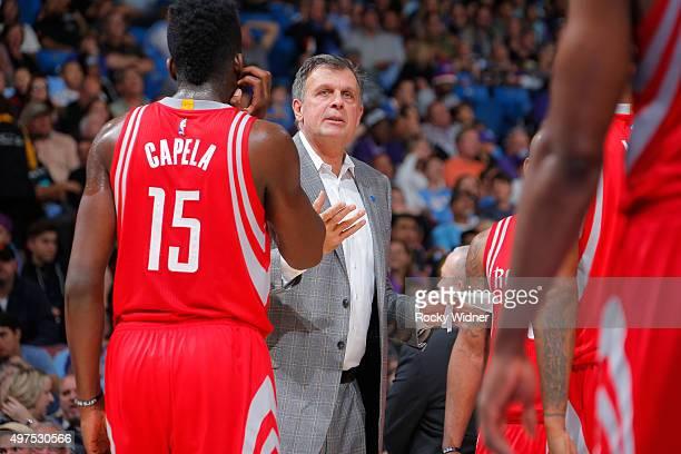 Head coach Kevin McHale of the Houston Rockets coaches against the Sacramento Kings on November 6 2015 at Sleep Train Arena in Sacramento California...