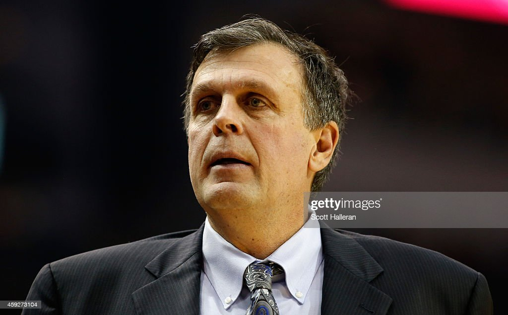Head coach Kevin McHale of the Houston Rockets walks on the court during their game against the Los Angeles Lakers at the Toyota Center on November 19, 2014 in Houston, Texas.