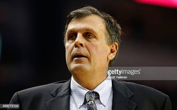 Head coach Kevin McHale of the Houston Rockets walks on the court during their game against the Los Angeles Lakers at the Toyota Center on November...