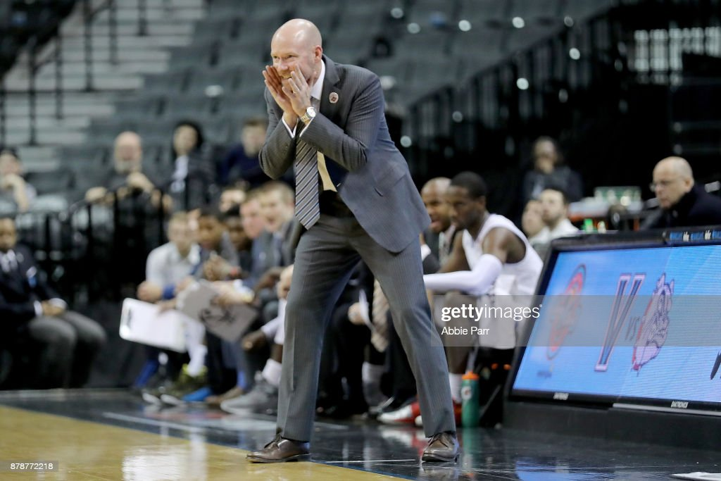 Head coach Kevin Willard of the Seton Hall Pirates reacts during the second half against the Vanderbilt Commodores during their NIT Season Tip Off tournament game at Barclays Center on November 24, 2017 in the Brooklyn brough of New York City.