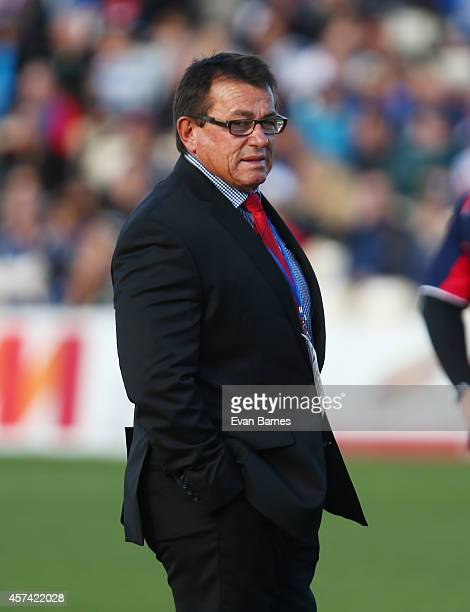 Head coach Kieran Keane of Tasman before the start of the Premiership SemiFinal match between Tasman and Canterbury at Trafalgar Park on October 18...