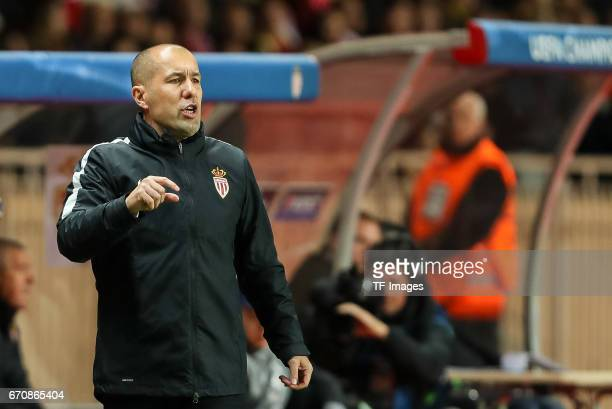 Head coach Leonardo Jardim of Monaco gestures during the UEFA Champions League quarter final second leg match between AS Monaco and Borussia Dortmund...