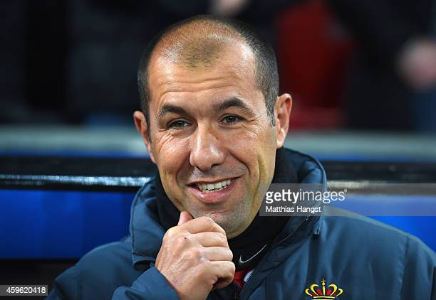 Head Coach Leonardo Jardim of Monaco looks on during the UEFA Champions League group C match between Bayer 04 Leverkusen and AS Monaco FC at BayArena...