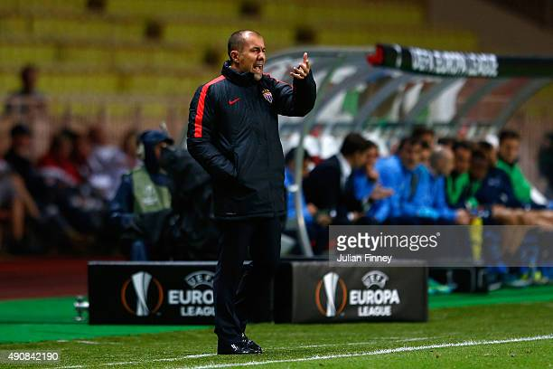 Head Coach Leonardo Jardim of Monaco on the touchline during the UEFA Europa League group J match between AS Monaco FC and Tottenham Hotspur FC at...