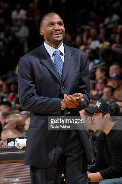 Head coach Lindsey Hunter of the Phoenix Suns against the Golden State Warriors on February 20 2013 at Oracle Arena in Oakland California NOTE TO...