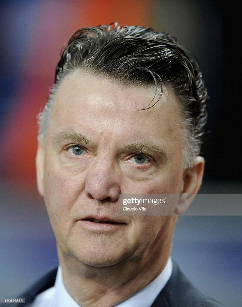 Head coach Louis van Gaal of Netherlands before the international friendly match between Netherlands and Italy at Amsterdam Arena on February 6, 2013 in Amsterdam, Netherlands.