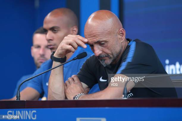 Head coach Luciano Spalletti of FC Internazionale attends a press conference during the Inter summer tour 2017 on July 20 2017 in Nanjing Jiangsu...