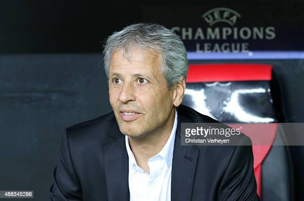 Head Coach Lucien Favre of Borussia Moenchengladbach before the UEFA Champions League match between FC Sevilla and Borussia Moenchengladbach at...