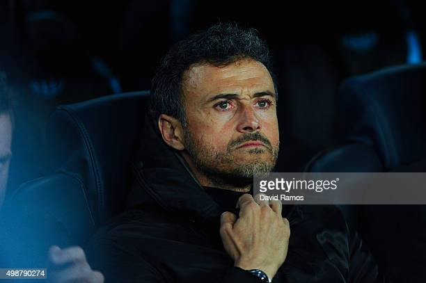 Head coach Luis Enrique of FC Barcelona looks on during the UEFA Champions League Group E match between FC Barcelona and AS Roma at Camp Nou stadium...