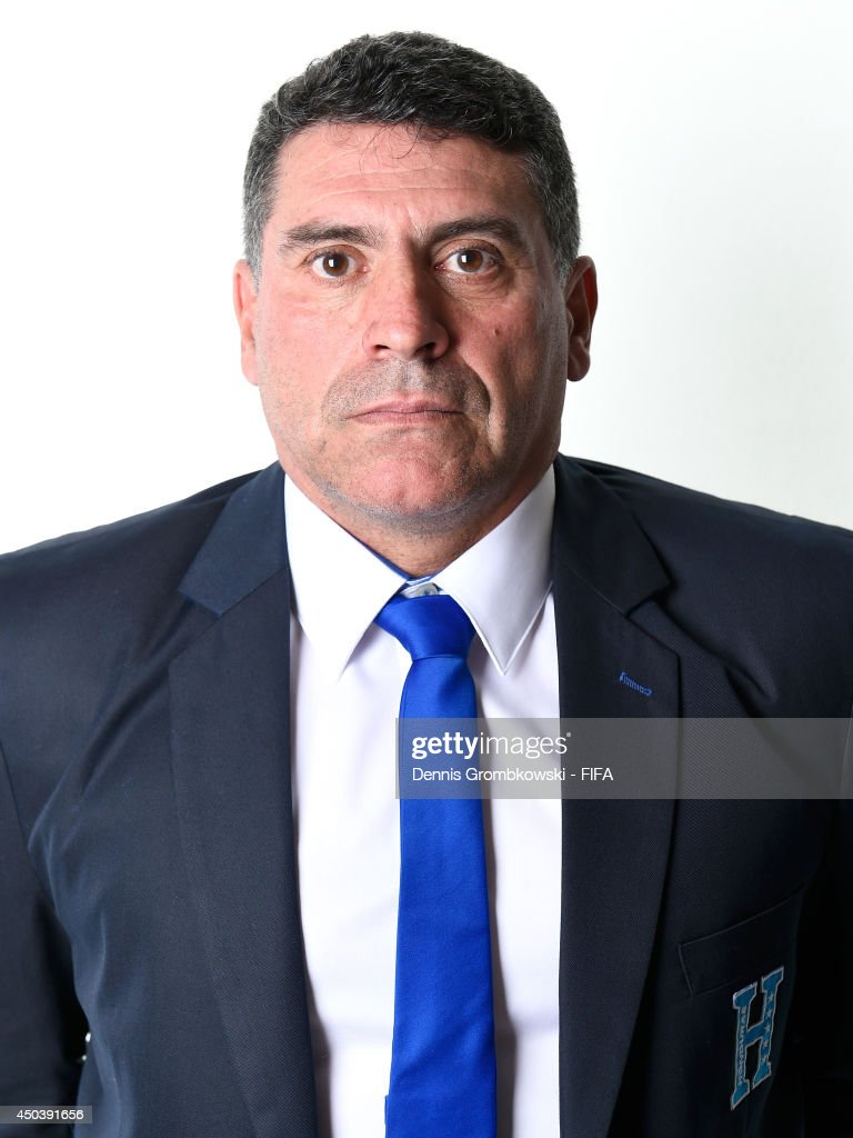Head coach Luis Suarez of Honduras poses during the Official FIFA World Cup 2014 portrait session on June 10, 2014 in Porto Feliz, Brazil.