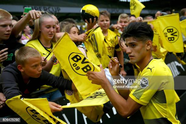 Head coach Mahmoud Dahoud gives autographs during the Borussia Dortmund Season Opening 2017/18 at Signal Iduna Park on August 4 2017 in Dortmund...