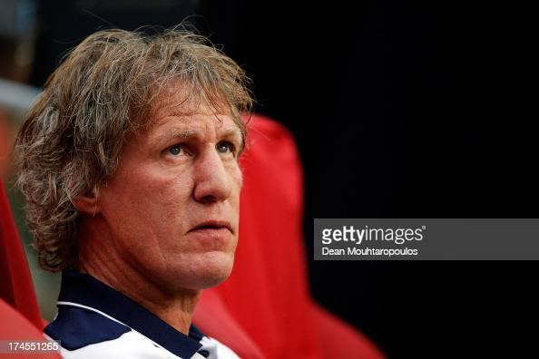 Head Coach / Manager Gertjan Verbeek looks on during the Johan Cruyff Shield match between AZ Alkmaar and Ajax Amsterdam at the Amsterdam Arena on...