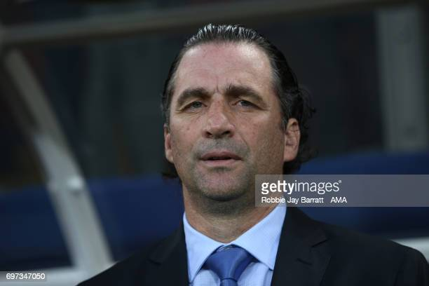 Head Coach / Manager Juan Antonio Pizzi of Chile looks on during the FIFA Confederations Cup Russia 2017 Group B match between Cameroon and Chile at...
