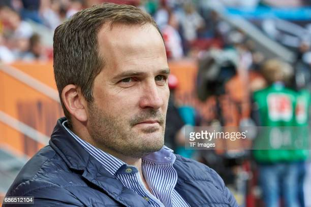 Head coach Manuel Baum of Augsburg of Dortmund looks on during the Bundesliga match between FC Augsburg and Borussia Dortmund at the WWKArena on May...