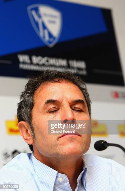 Head coach Marcel Koller of Bochum looks thoughtful during the press conference after losing 23 the Bundesliga match between VfL Bochum and FSV Mainz...