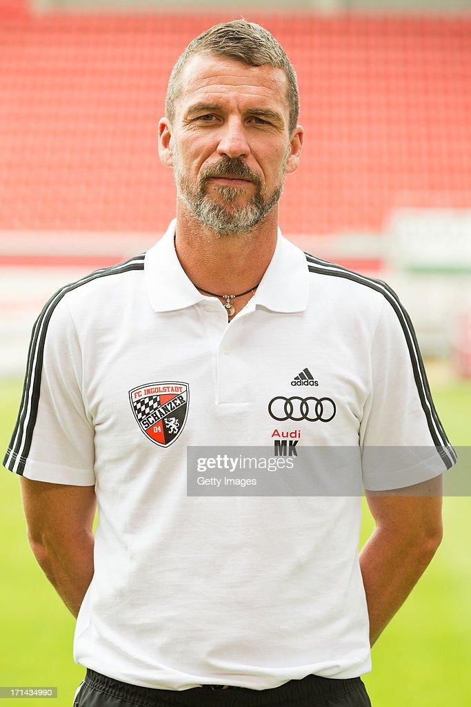 Head coach Marco Kurz poses during the Second Bundesliga team presentation of FC Ingolstadt at Audi Sportpark on June 22 2013 in Ingolstadt Germany