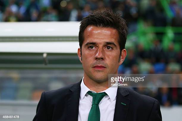 Head Coach Marco Silva of Sporting Lisbon looks on during the UEFA Champions League Group G match between Sporting Clube de Portugal and FC Schalke...