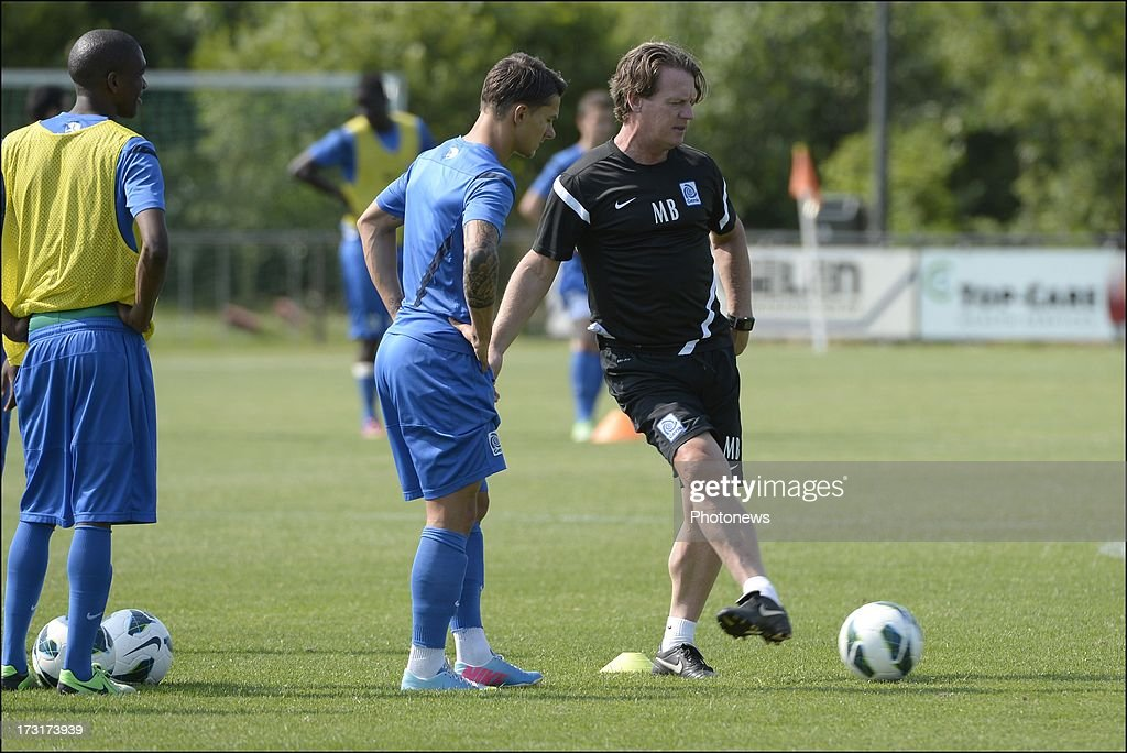 Head coach, Mario Been of KRC Genk during a KRC Genk summer camp training session on July 09 , 2013 in Tegelen, Netherlands.