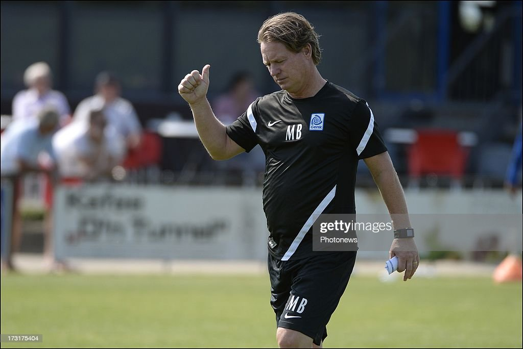 Head coach Mario Been of KRC Genk during a KRC Genk summer camp training session on July 09 , 2013 in Tegelen, Netherlands.