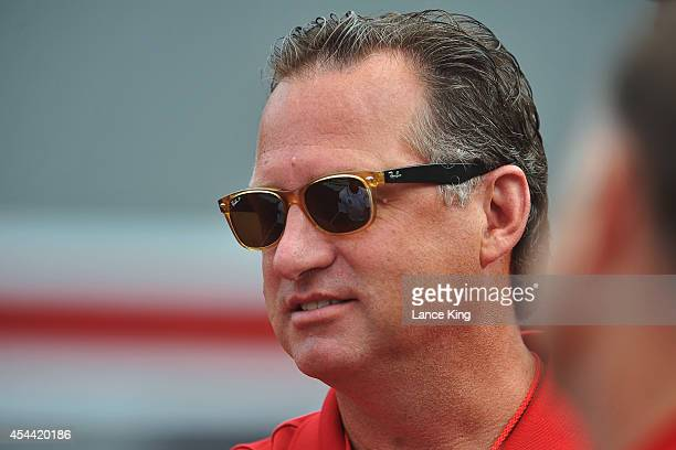 Head Coach Mark Gottfried of the North Carolina State men's basketball team looks on prior to a game between the Georgia Southern Eagles and the...