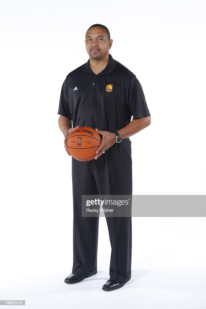 Head Coach Mark Jackson of the Golden State Warriors poses for a portrait during 2011 NBA Media Day on December 12, 2011 at Oracle Arena in Oakland, California.
