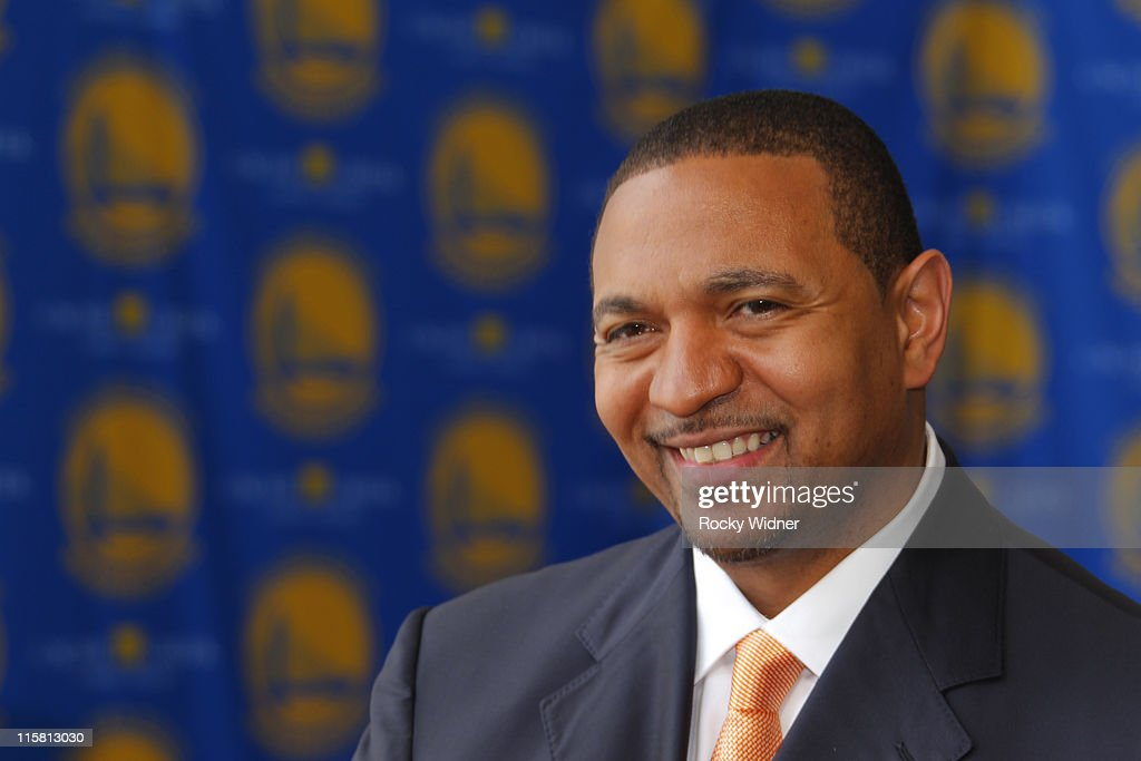 Head Coach Mark Jackson of the Golden State Warriors smiles at his introductory press conference at the St. Regis Hotel on June 10, 2011 in San Francisco, California.