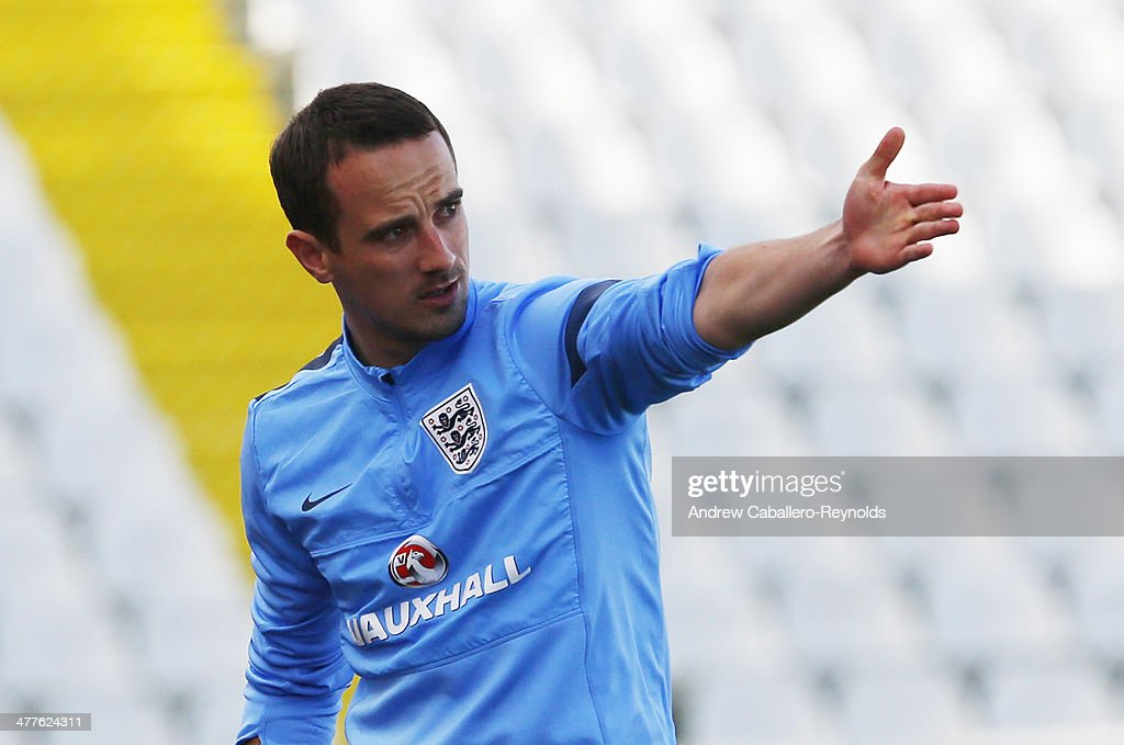 Head Coach Mark Sampson of England gestures during the Cyprus Cup match between England and Canada at GSP stadium on March 10, 2014 in Nicosia, Cyprus.