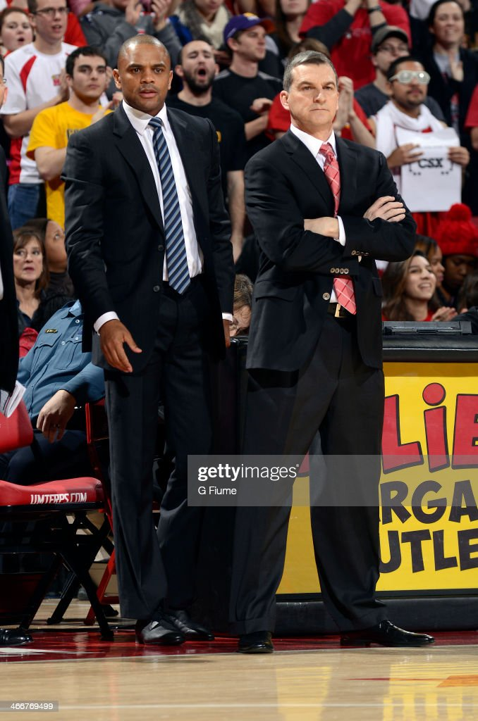 Head coach Mark Turgeon of the Maryland Terrapins watches the game against the Miami Hurricanes at the Comcast Center on January 29, 2014 in College Park, Maryland.
