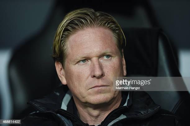 Head coach Markus Gisdol of Hoffenheim seen prior to the DFB Cup Quarter Final match between Borussia Dortmund and 1899 Hoffenheim at Signal Iduna...