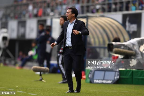 Head coach Massimo Ficcadenti of Sagan Tosu looks on during the JLeague J1 match between Sagan Tosu and FC Tokyo at Best Amenity Stadium on November...
