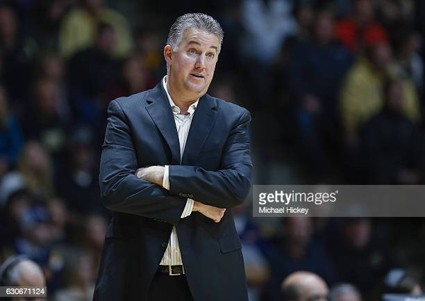 Head coach Matt Painter of the Purdue Boilermakers is seen during the game against the Norfolk State Spartans at Mackey Arena on December 21 2016 in...