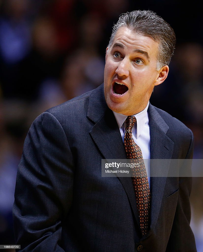 Head coach Matt Painter of the Purdue Boilermakers seen on the sidelines against the Ball State Cardinals at Mackey Arena on December 18, 2012 in West Lafayette, Indiana. Purdue defeated Ball State 66-56.