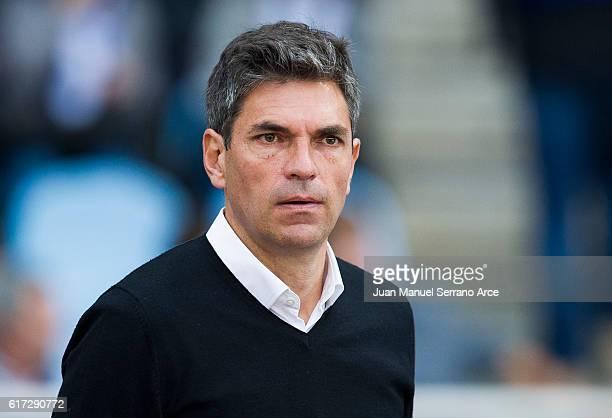 Head coach Mauricio Pellegrino of Deportivo Alaves looks on prior to the start the La Liga match between Real Sociedad de Futbol and Deportivo Alaves...