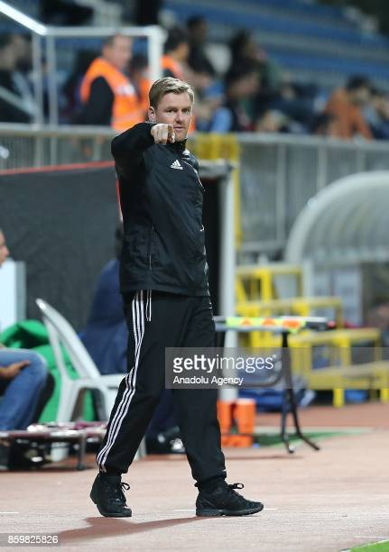 Head Coach Michael Boris of Hungary gestures during the 2017 UEFA European Under21 Championship qualification Group 6 football match Turkey and...