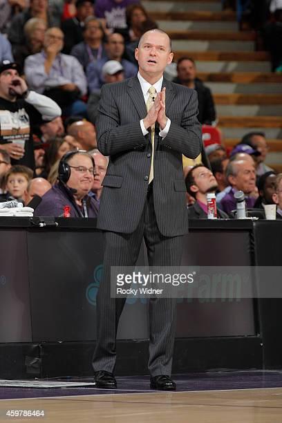 Head coach Michael Malone of the Sacramento Kings coaches against the Chicago Bulls on November 20 2014 at Sleep Train Arena in Sacramento California...