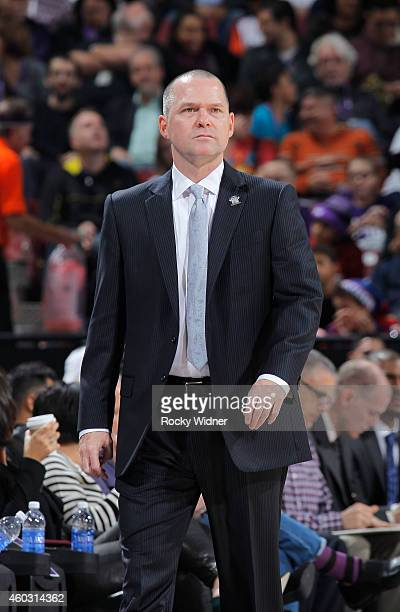 Head coach Michael Malone of the Sacramento Kings coaches against the Indiana Pacers on December 5 2014 at Sleep Train Arena in Sacramento California...