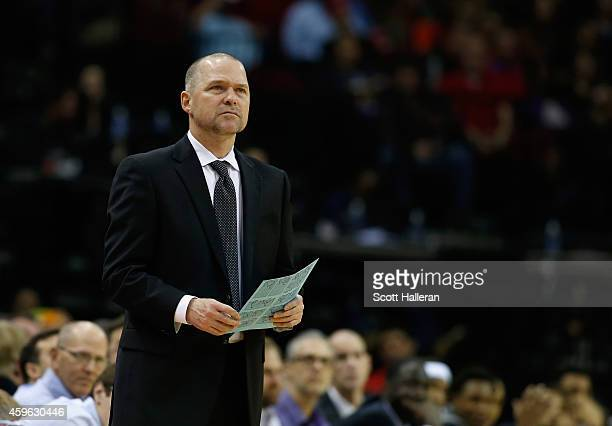 Head coach Michael Malone of the Sacramento Kings watches the action during their game against the Houston Rockets at the Toyota Center on November...