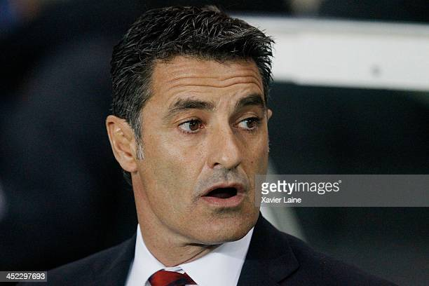 head coach Michel of Olympiacos FC during the UEFA Champions League between Paris SaintGermain FC and Olympiacos FC at Parc Des Princes on November...