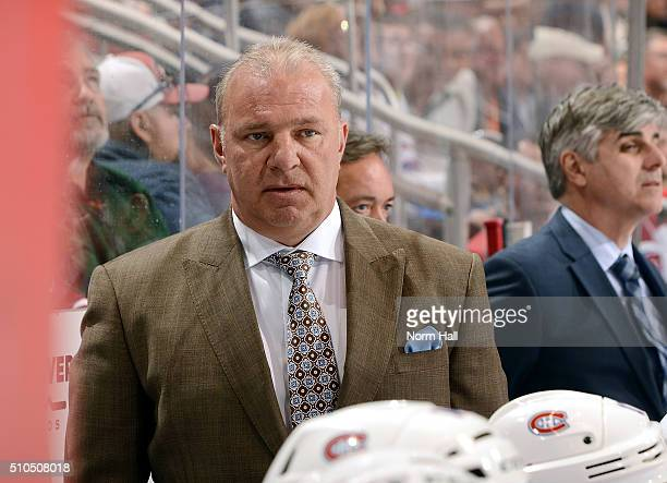 Head coach Michel Therrien of the Montreal Canadiens looks on from the bench during first period action against the Arizona Coyotes at Gila River...
